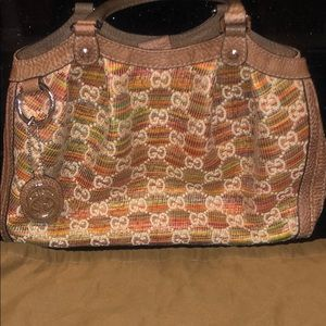 GUCCI SUNSET GG SUKEY RAFFIA NEVER EVER USED